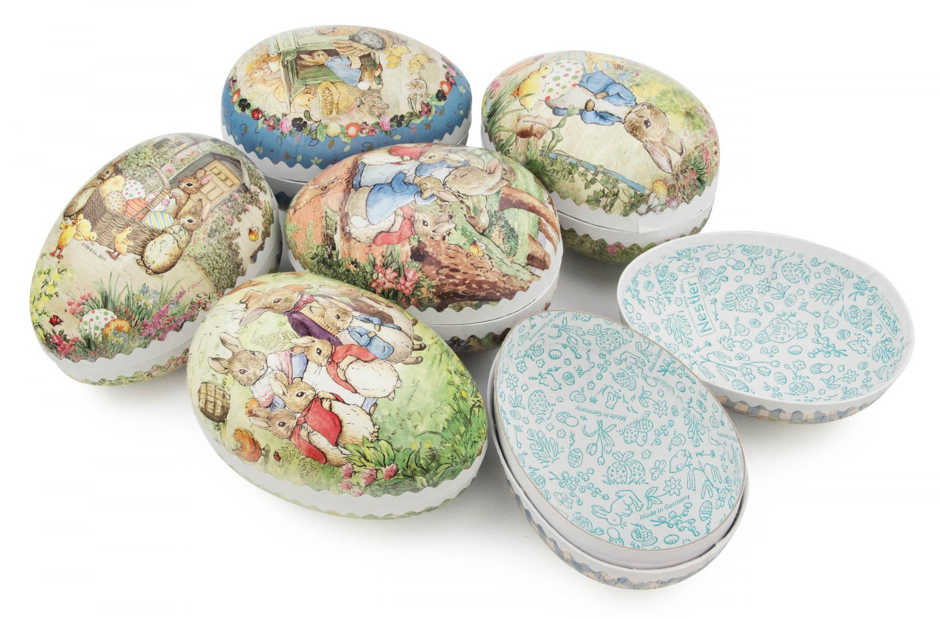 Easter Egg Container (Set of 6 Small) - Beatrix Potter Bunnies