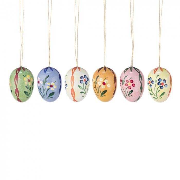 Easter Tree Decoration - Pastel Spring Blossoms (Set of 6)