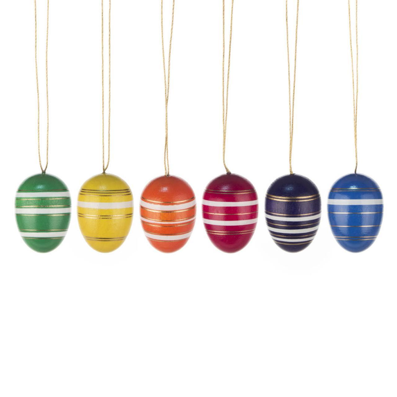 Easter Tree Decoration - Fine-banded Eggs (Set of 6)