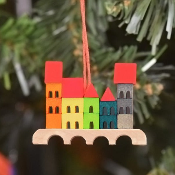 Mini Christmas Village -  Christmas tree decoration