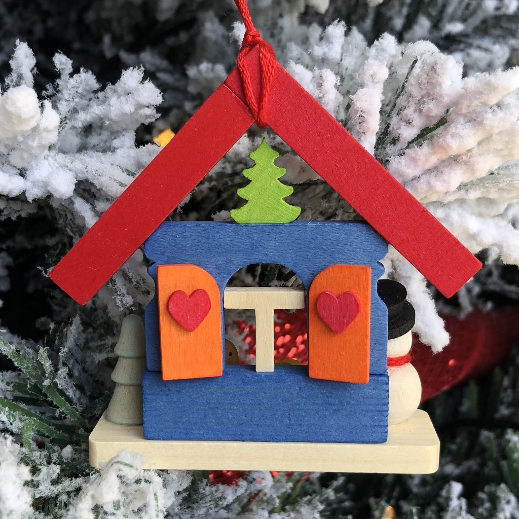 Christmas Village with Snowman - Christmas tree decoration