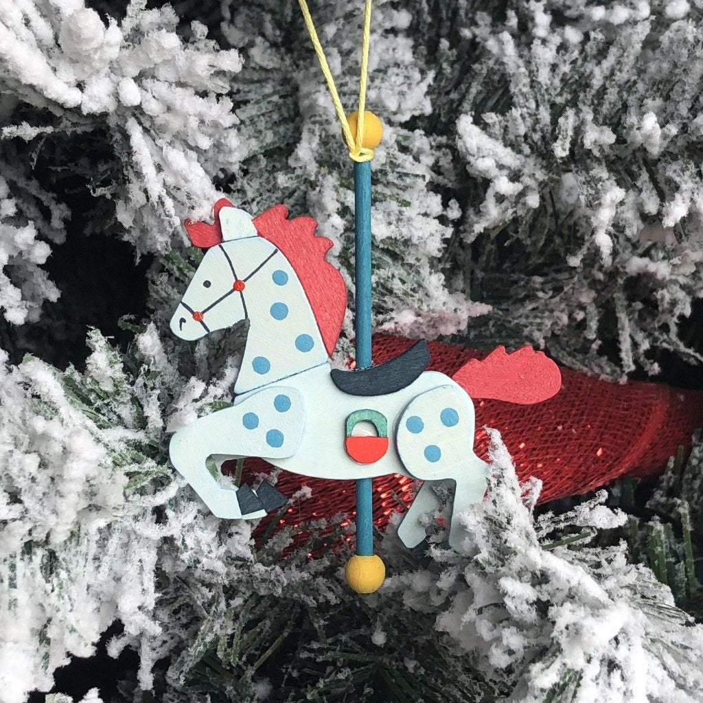 Carousel Pony (Snowflake) - Christmas Tree Decoration