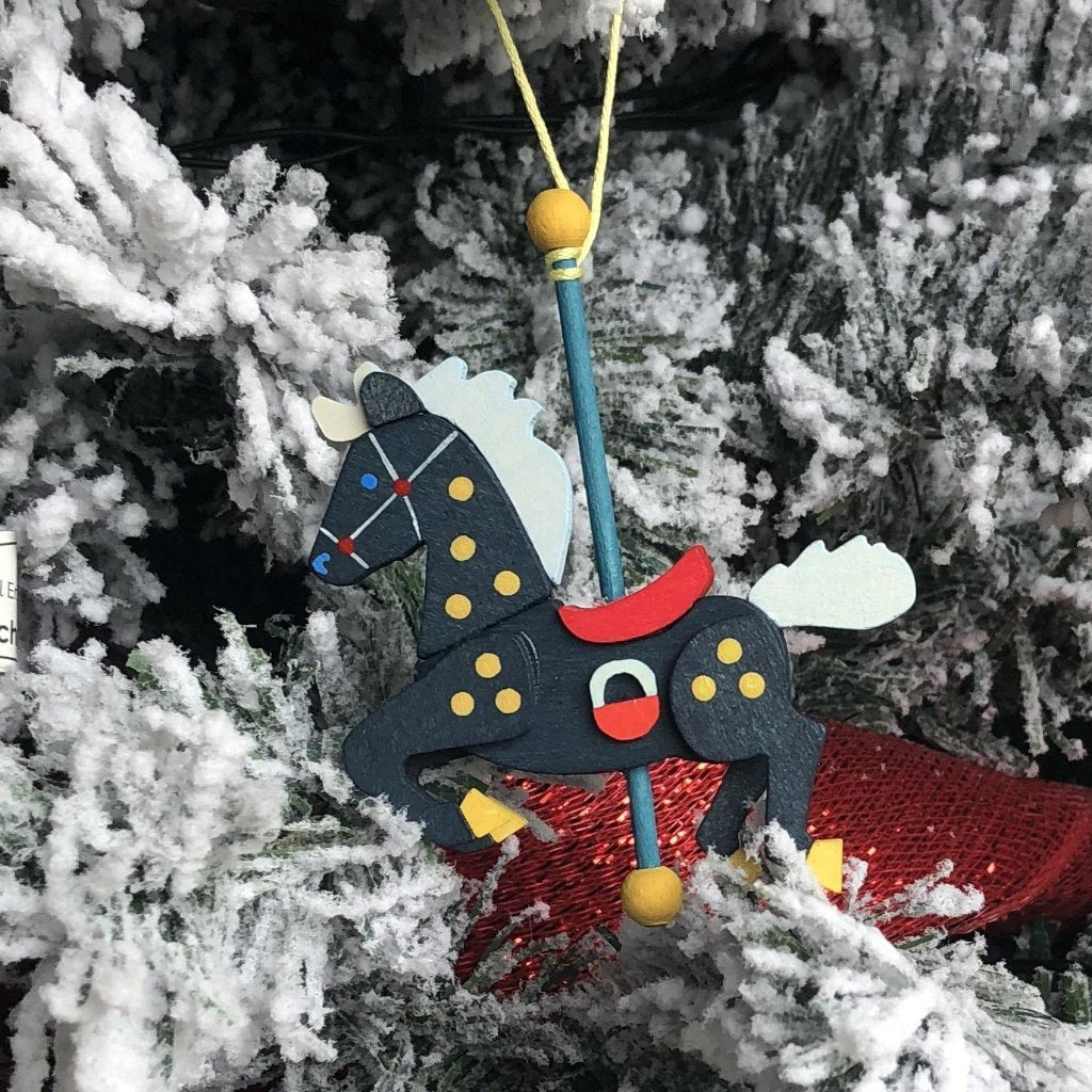 Carousel Pony (Sky) - Christmas Tree Decoration