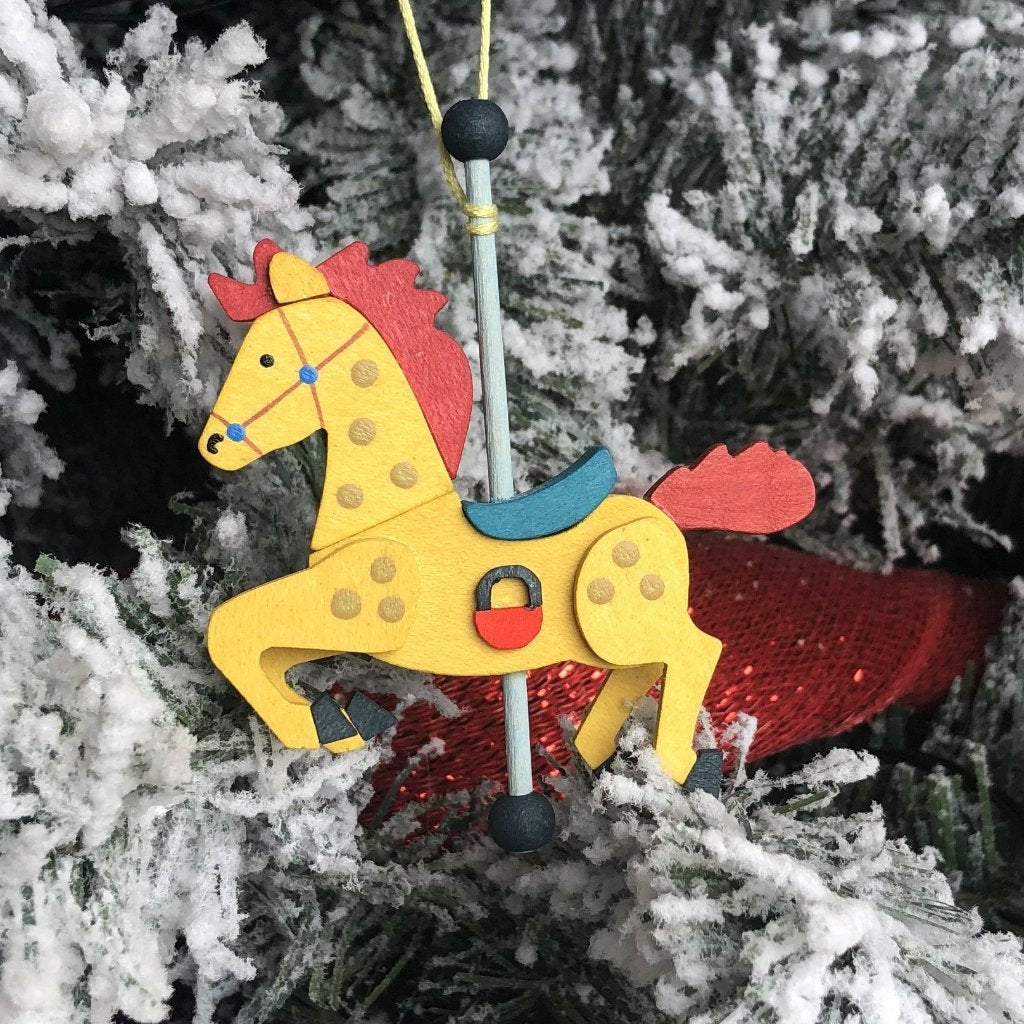 Carousel Pony (Sunshine) - Christmas Tree Decoration