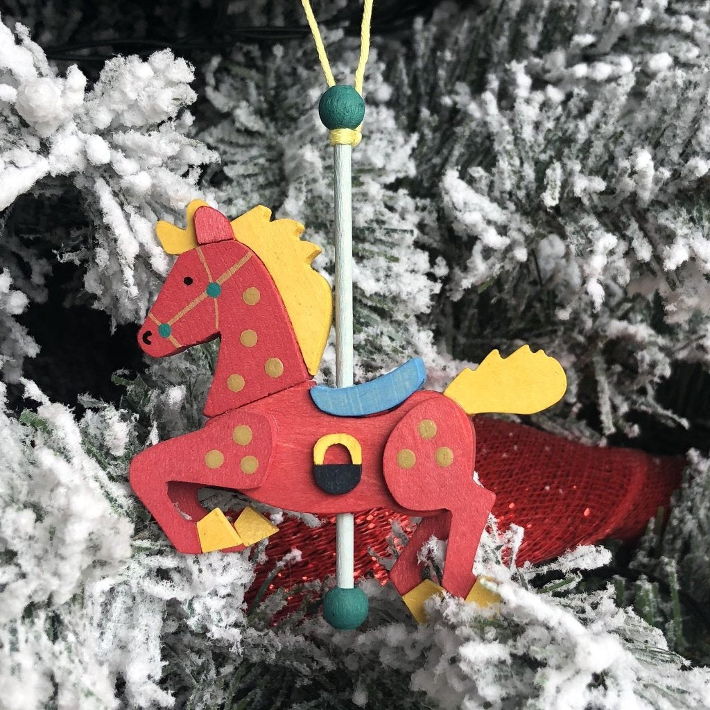 Carousel Pony (Strawberry) - Christmas Tree Decoration