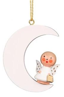 Mini angel - Moon-sitting - Christmas tree decoration