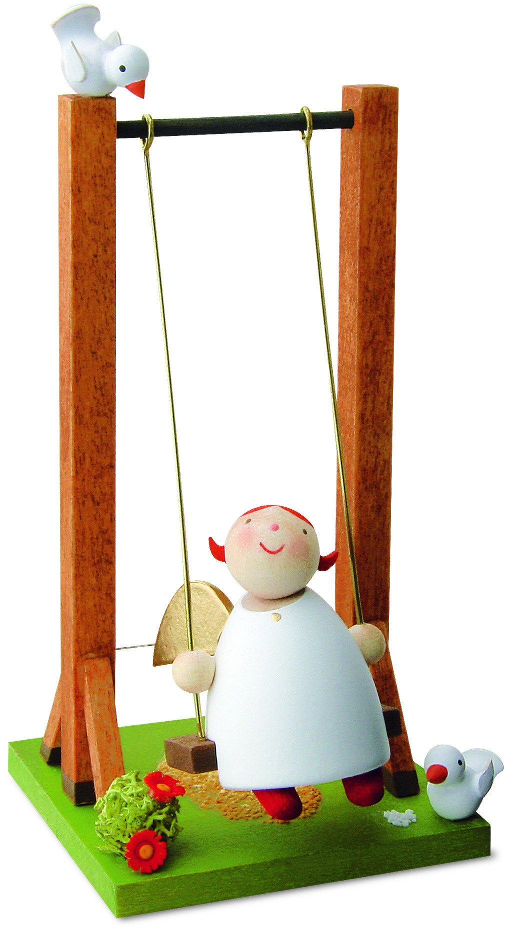 Little Angel Figurine - Guardian Angel on a Swing