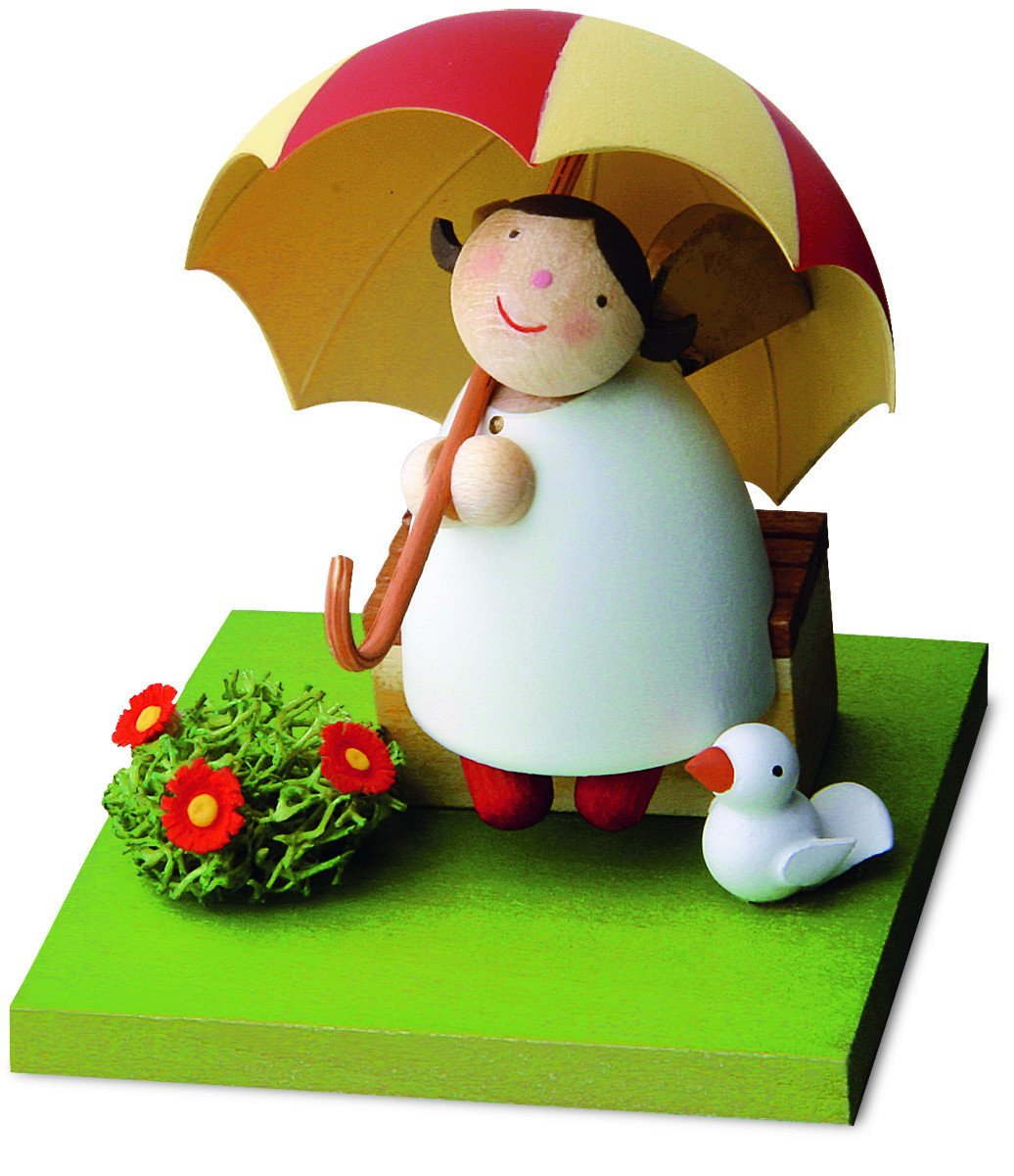 Little Angel Figurine - Under an umbrella
