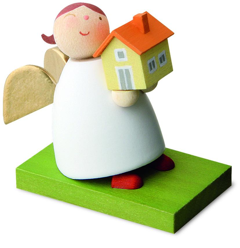Little Angel Figurine - Guardian Angel with First Home