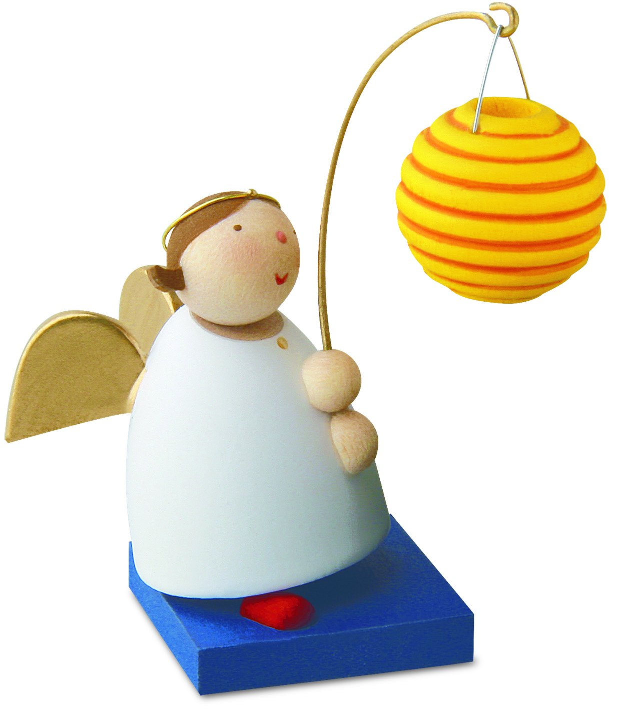 Little Angel Figurine - Guardian Angel with Lantern (Round)