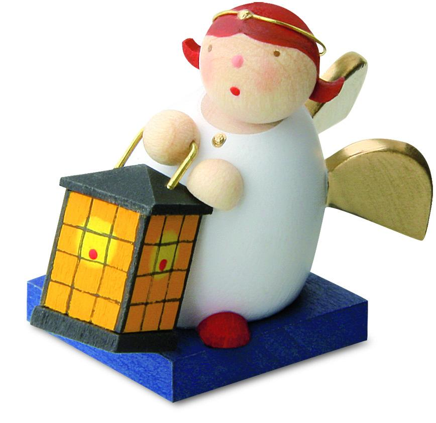Little Angel Figurine - Guardian Angel with Lantern (Square)