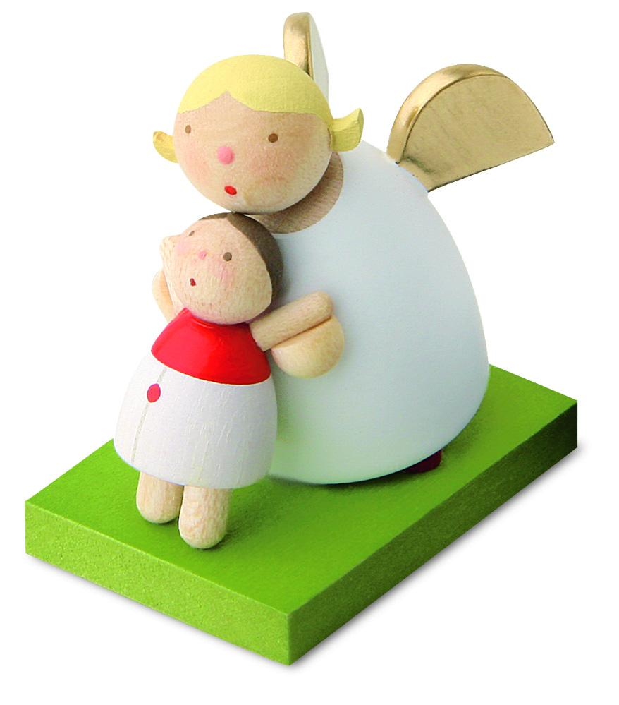 Little Angel Figurine - Guardian Angel with Doll