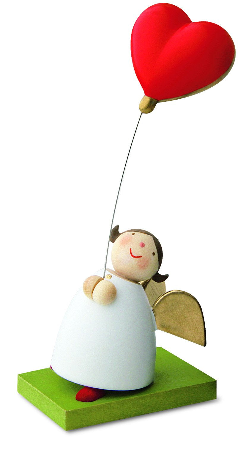 Little Angel Figurine - Guardian Angel with Balloon Heart