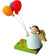 Little Angel Figurine - Guardian Angel with Balloon Trio