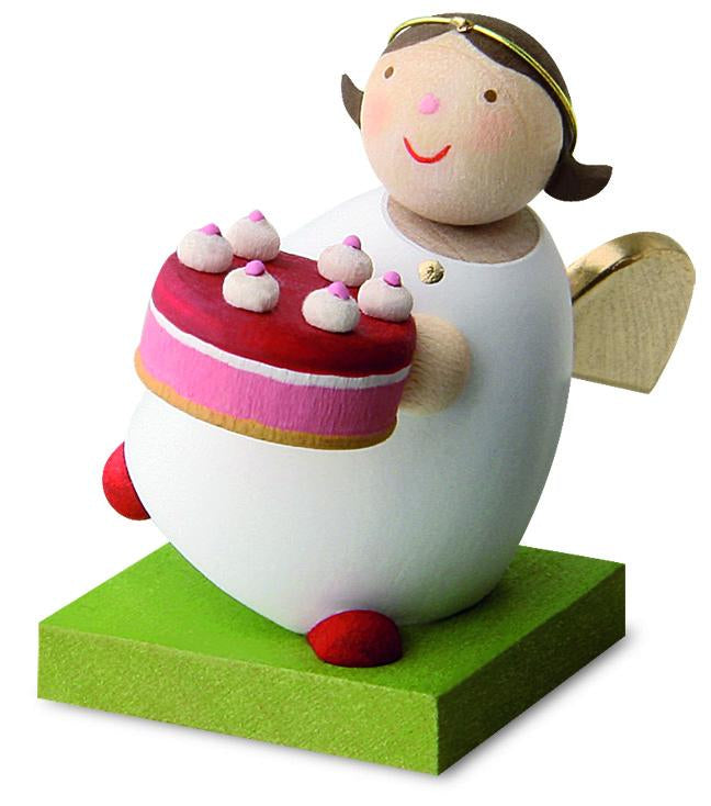 Little Angel Figurine - Guardian Angel with Cake