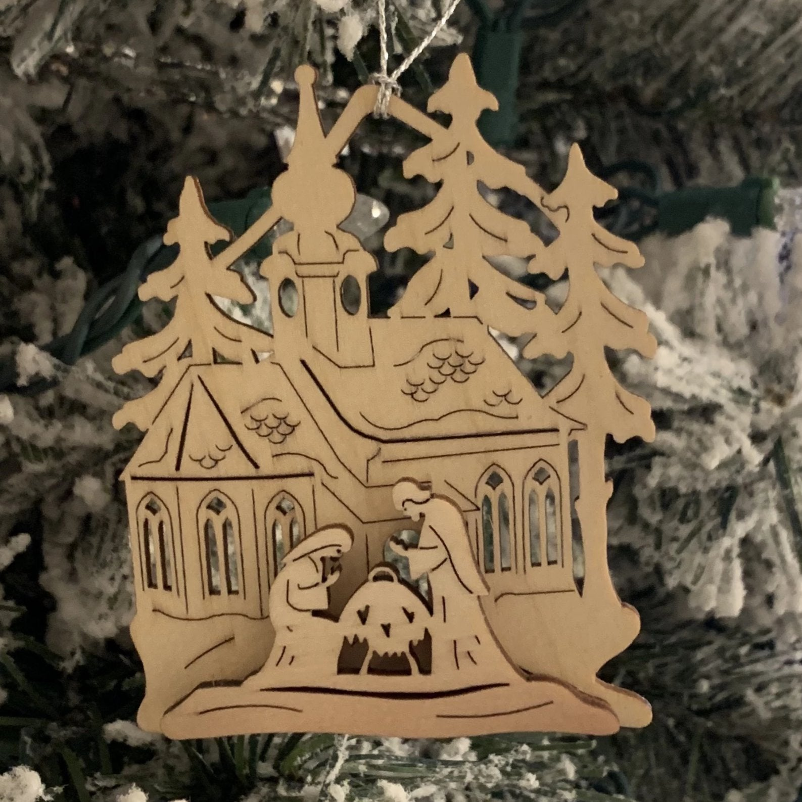 Elke's Manger Scene - Christmas tree decorations