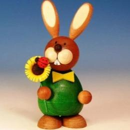 Osterhase Collectible - Bunny Boy with Sunflower