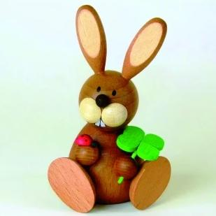 Osterhase Collectible - Bunny Boy with Lucky Clover and Ladybeetle