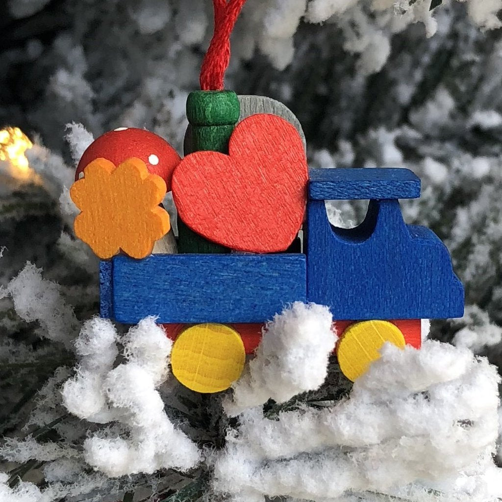Mini Good Luck Truck-  Christmas tree decoration