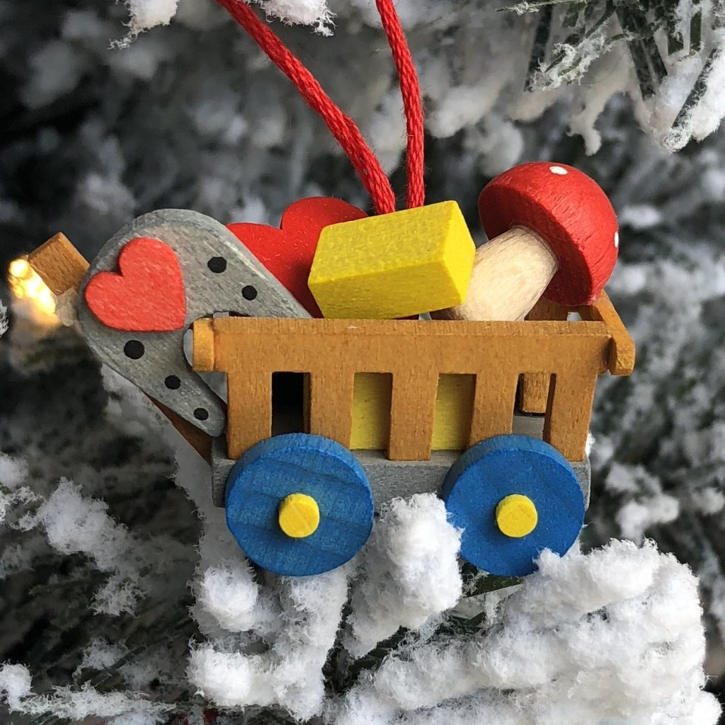 Mini Good Luck Wagon  - Christmas tree decoration