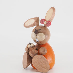 Osterhase Collectible - Bunny Girl Sitting with Baby Bunny
