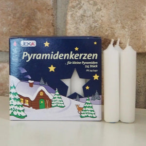 Pyramid Candle (14mm) - White