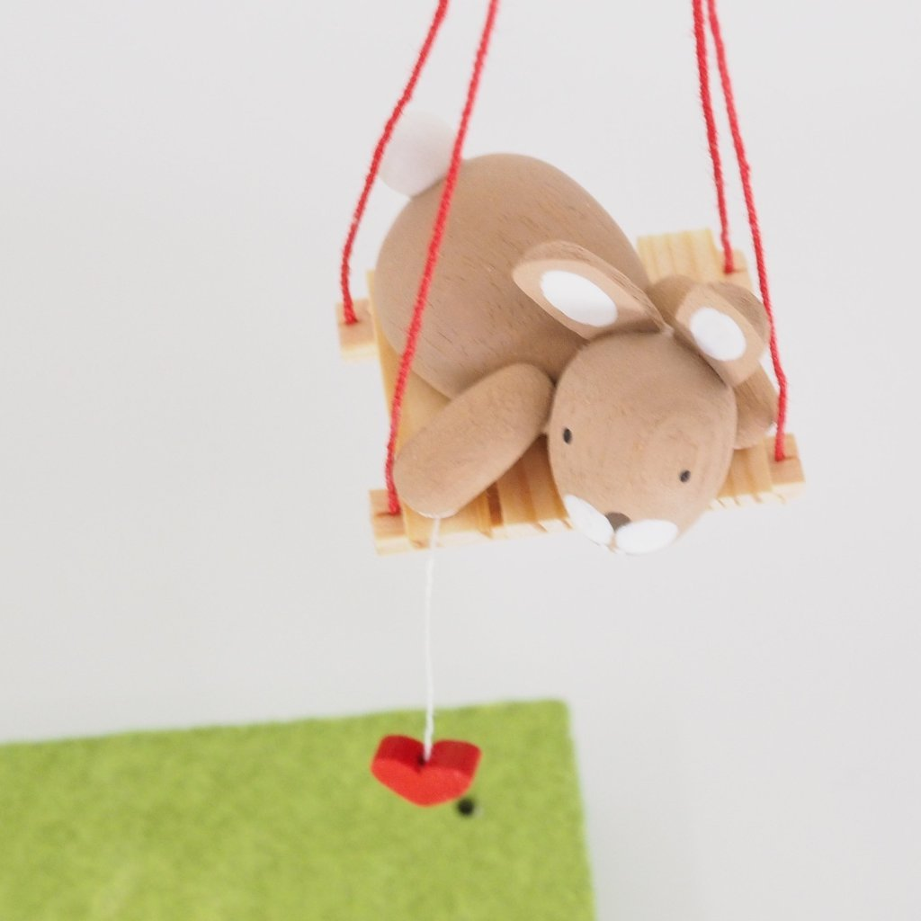 Premium Easter Bunny - Easter Bunny on swing (Hanging Decoration)