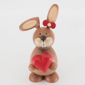 Osterhase Collectible - Bunny Girl with Love Heart
