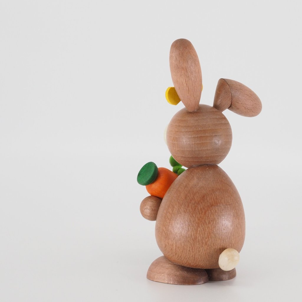 Osterhase Collectible - Bunny Girl with Carrot and Caterpillar