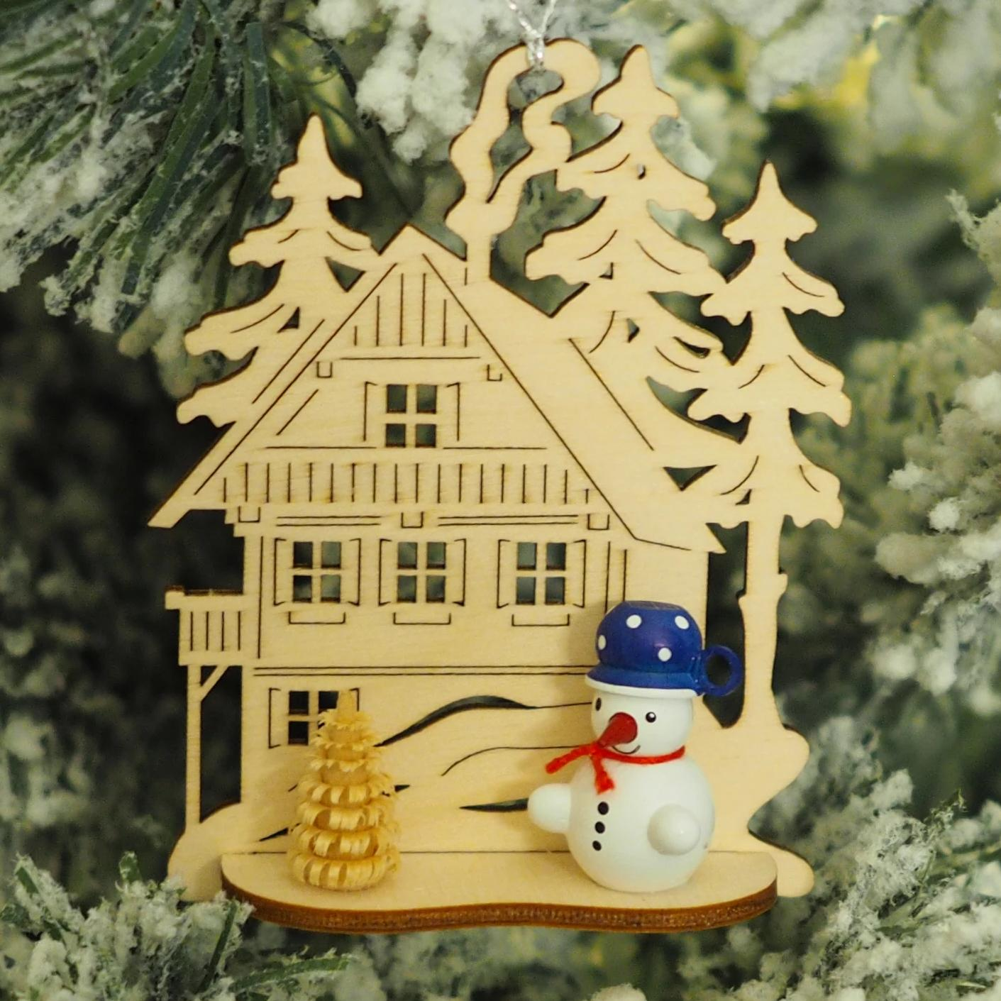 Nicole's Snowmen (Alpine Lodge - Blue) - Christmas tree decoration