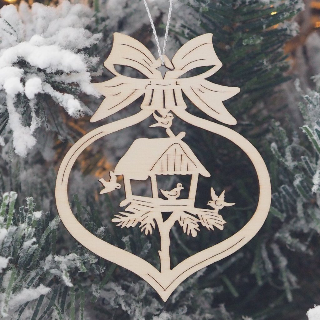 Elke's Cut-Outs (Assorted Baubles - Forest Scenes) - Set of 6 Christmas tree decorations