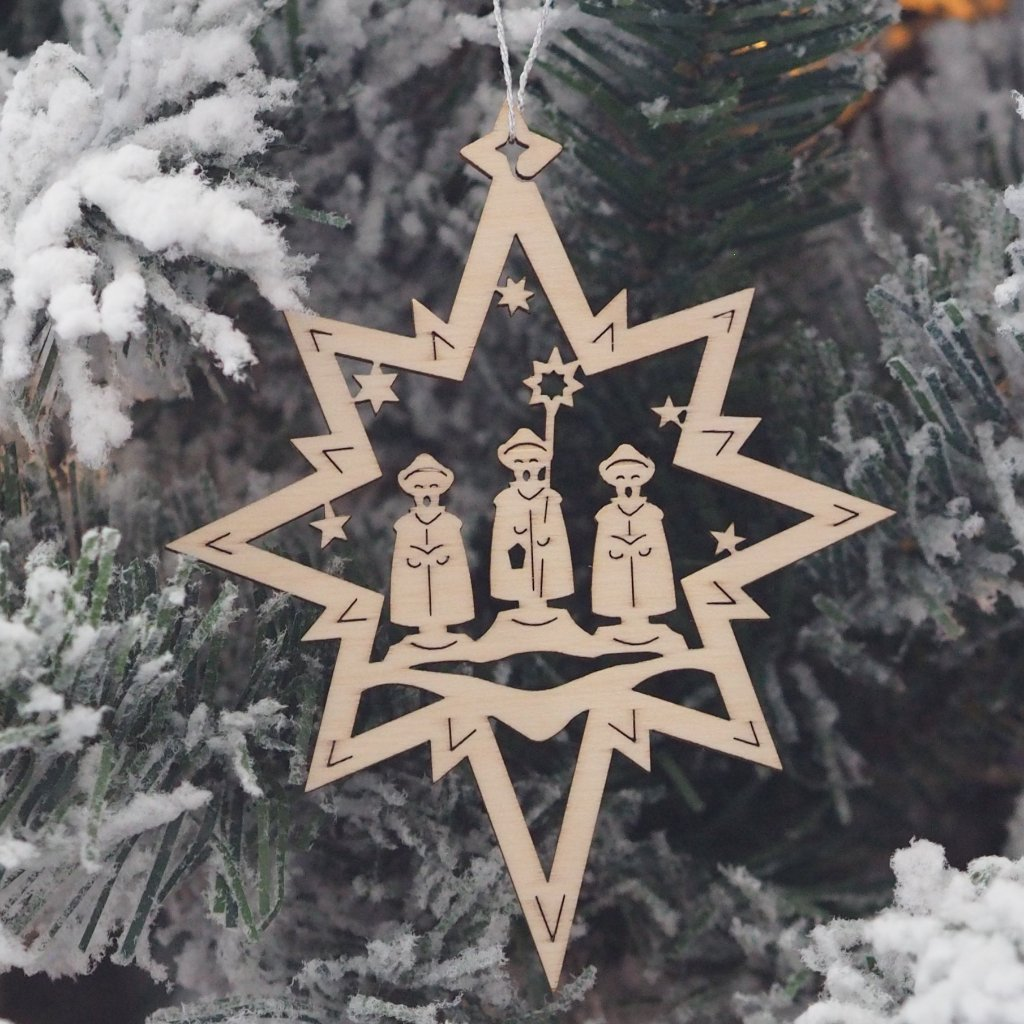 Elke's Cut-Outs (Assorted Stars - Traditions) - Set of 6 Christmas tree decorations