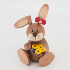 Osterhase Collectible - Bunny Girl Sitting with Butterfly