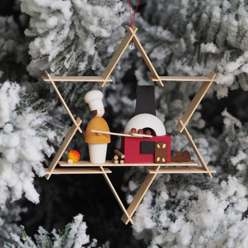 A Superstar Gingerbread Baker - Christmas tree decoration