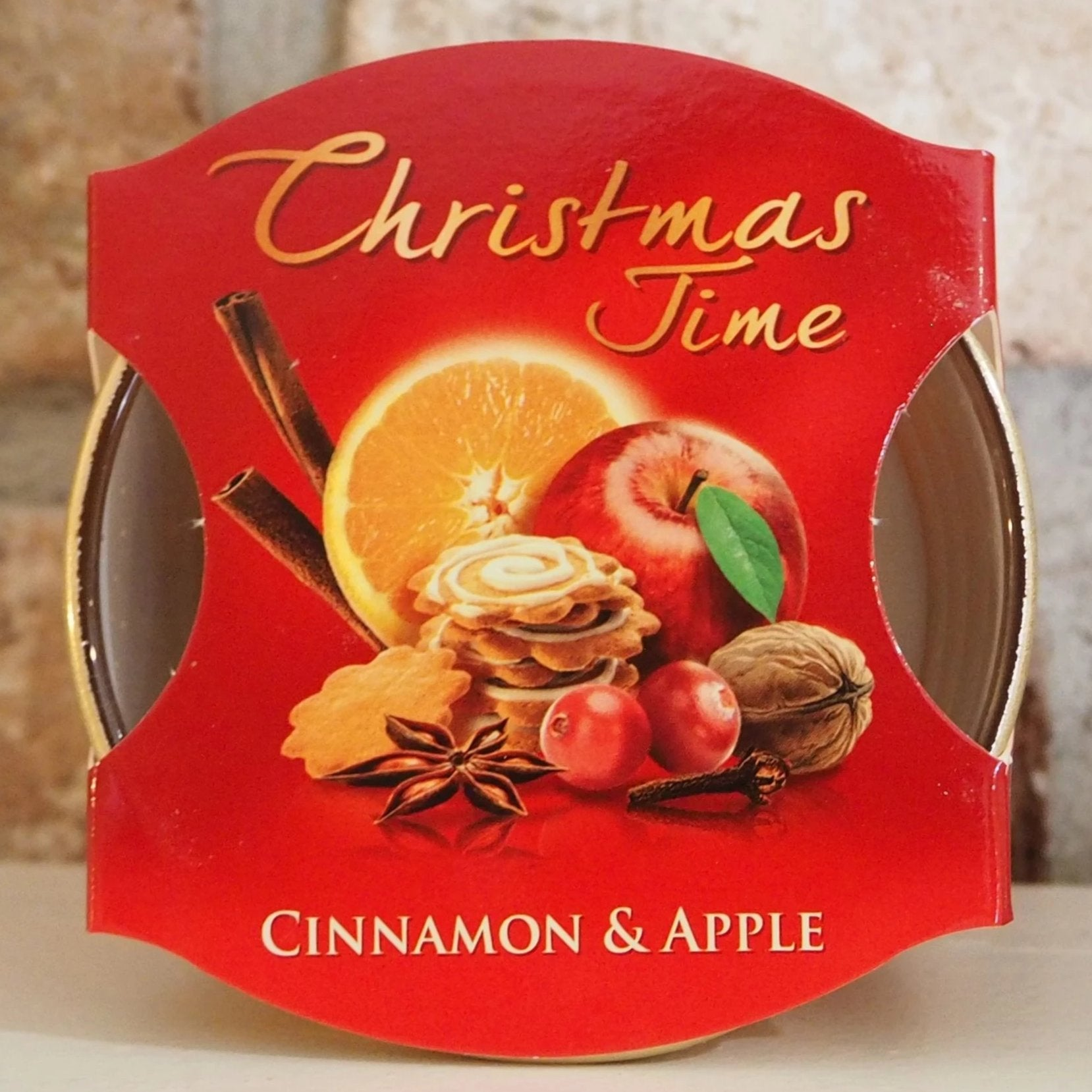 Christmas Scented Candle - Cinnamon and Apple