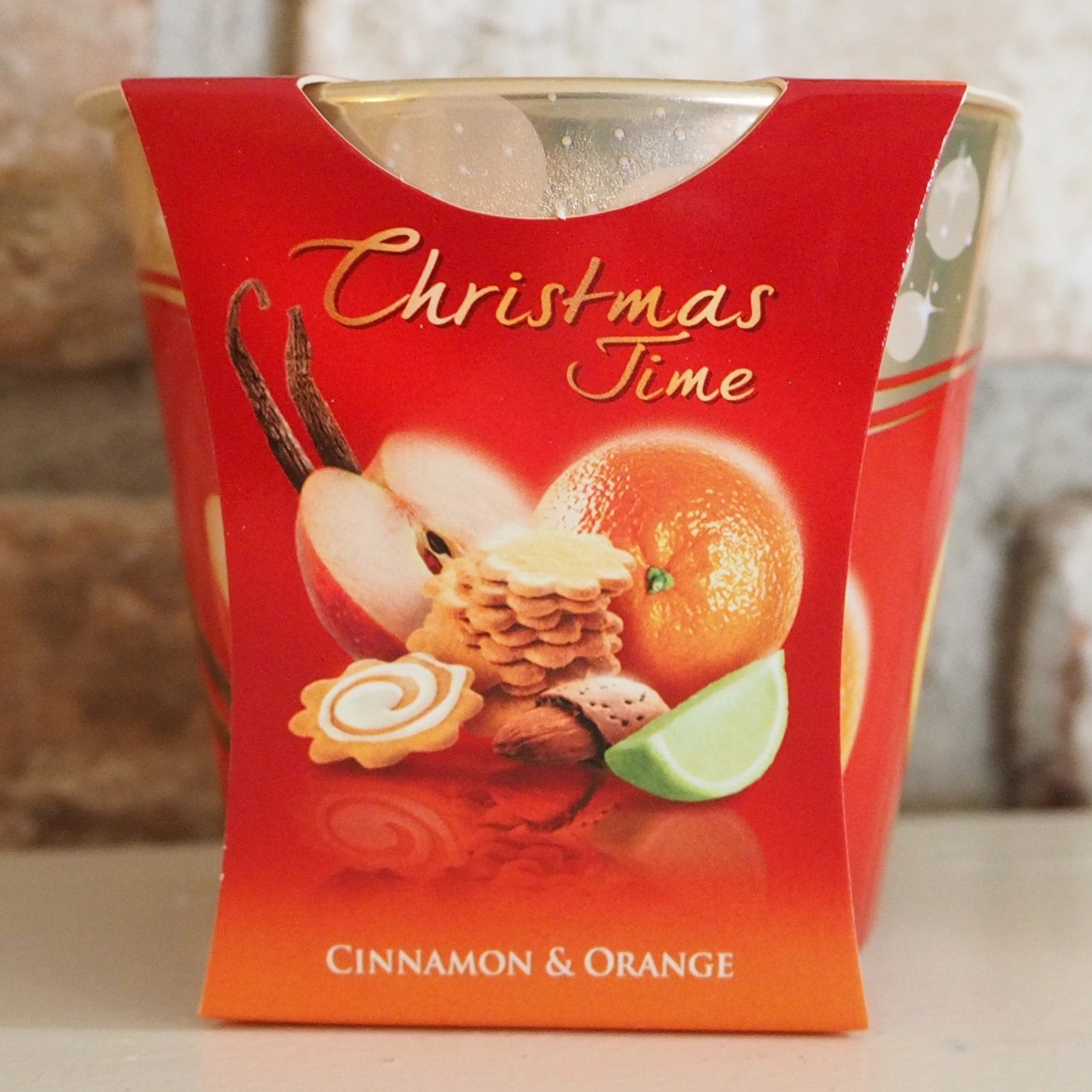 Christmas Scented Candle - Cinnamon and Orange
