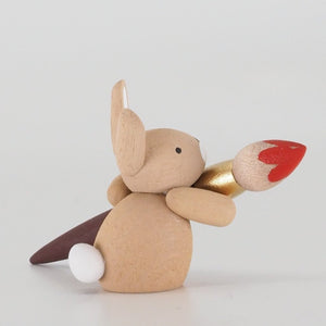 Premium Easter Bunny - Easter Bunny with paintbrush