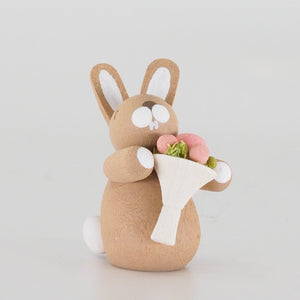 Premium Easter Bunny - Easter Bunny with Peonies (Set of 3)