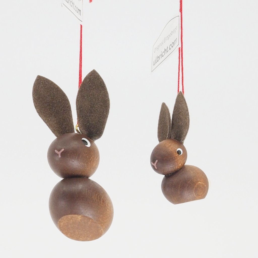 "Bunny with Floppy Ears (Petite - 1.5"") - Easter Tree Decoration"