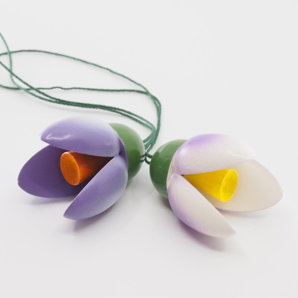 Easter Tree Decoration - Spring Blossom Pair (Purple)