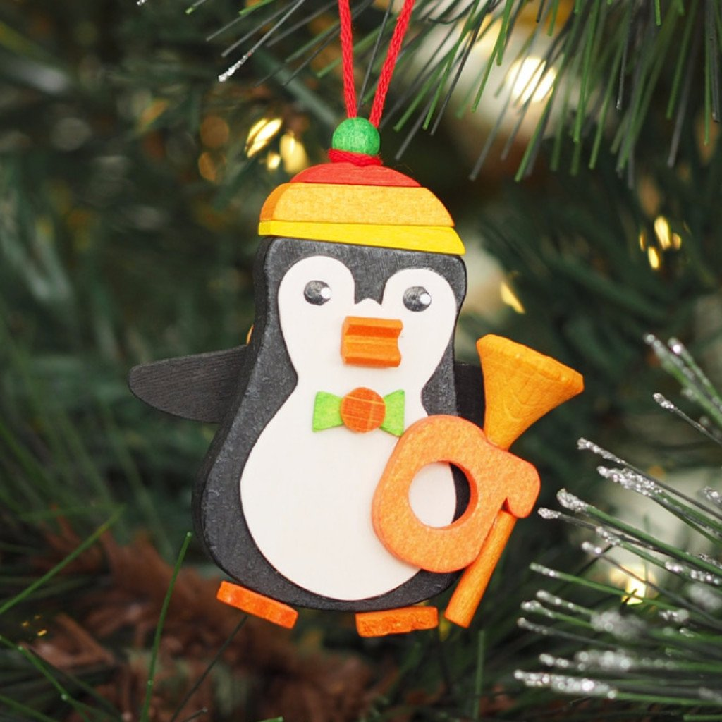 Penguin jazz trumpeter - Christmas tree decoration