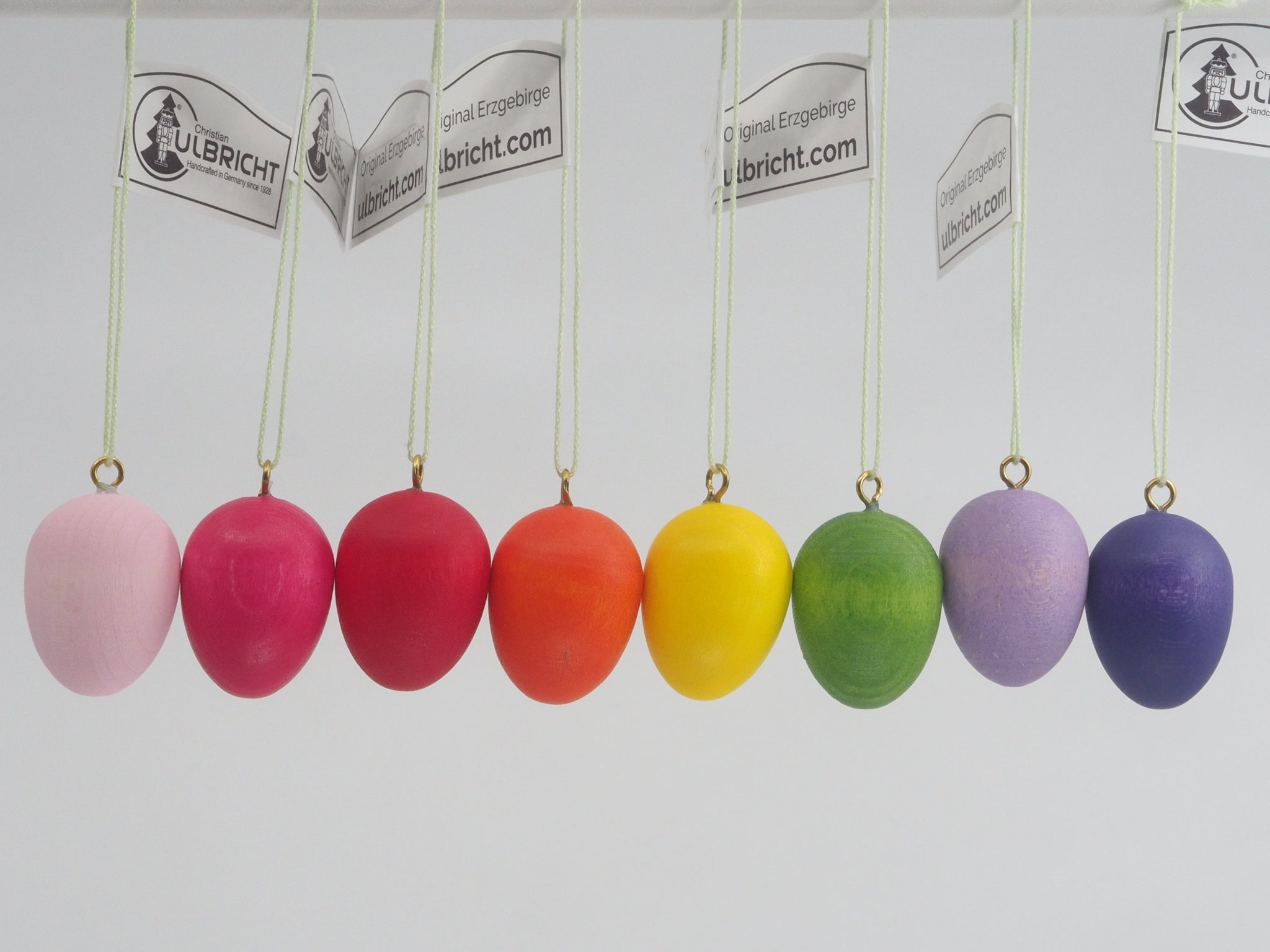A Rainbow of Easter Eggs (Set of 8 Mini) - Easter Tree Decoration