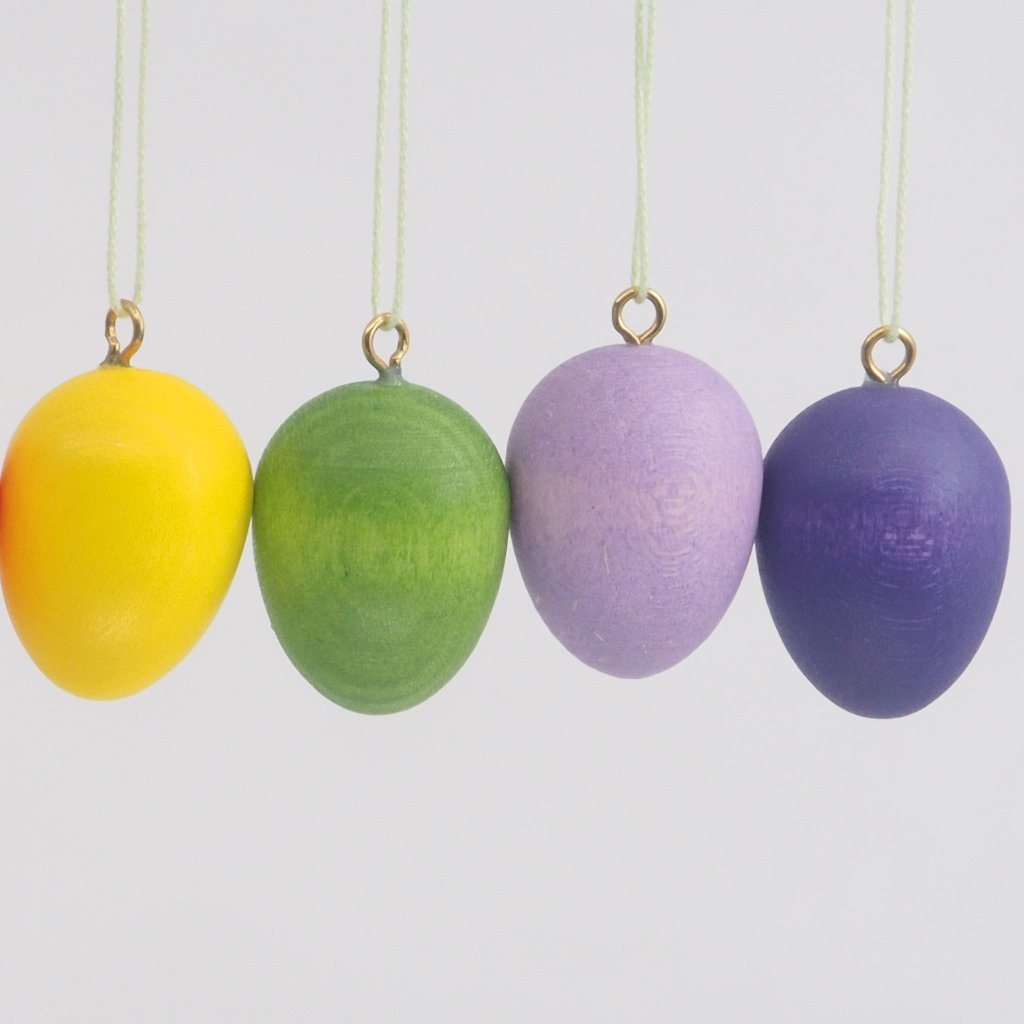 A Rainbow of Easter Eggs (Set of 8 Real-Egg Sized) - Easter Tree Decoration