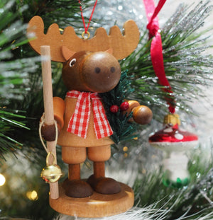 Large gnome Christmas tree decoration - Christmas Moose (Natural)