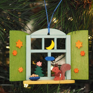 Starlight Window - Forest Squirrel - Christmas Tree Decoration