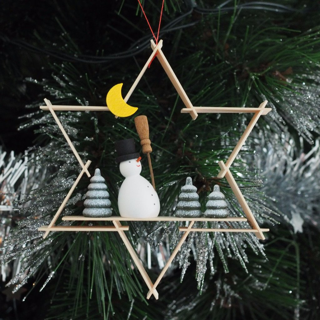 A Superstar Snowman - Christmas tree decoration