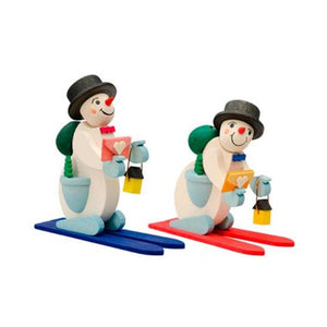 Skiing Snowmen Pair - Christmas tree decorations