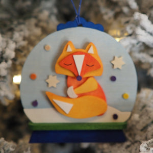 Snow Globe - Felix the Fox - Christmas tree decoration