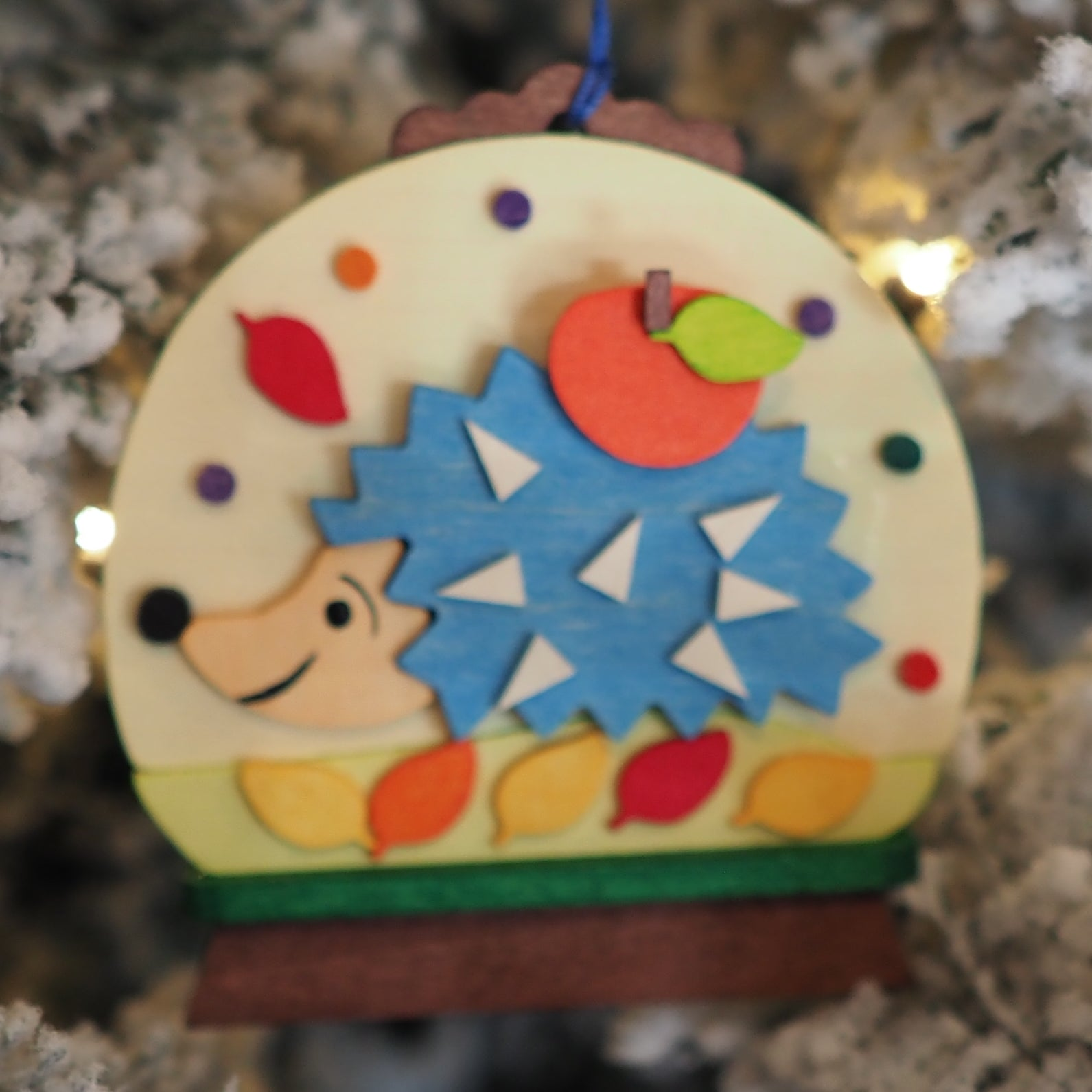 Snow Globe - Hugo Hedgehog - Christmas tree decoration