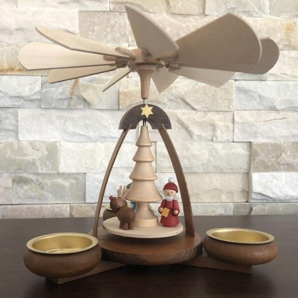 Christmas Pyramid (Medium)- Santa, Snowman and Reindeer